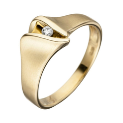 JOBO Diamantring, 585 Gold mit Diamant 54