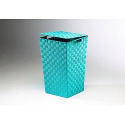 Home affaire Wäschekorb, aus Nylon und Metall blau