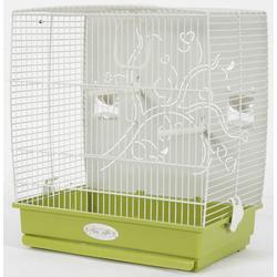 ZOLUX Adèle Vogelkäfig mit Metallboden für exotische Vögel/Wellensittiche 44X31X40 cm