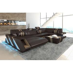 Sofa Dreams Sofa Apollonia, U Form braun