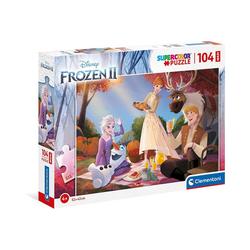 Clementoni® Puzzle Puzzle 104 Teile, Maxi - Frozen 2, Puzzleteile