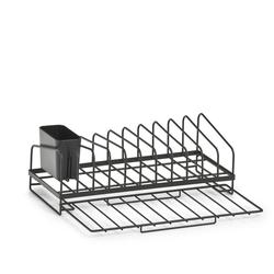 Geschirrabtropfständer, Metall, schwarz 36,8x17,5x13,5