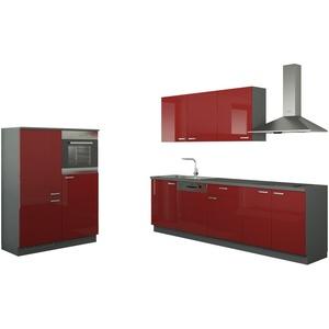 Küchenzeile mit Elektrogeräten  Cottbus ¦ rot