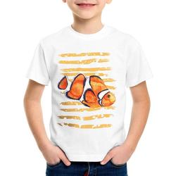 style3 Print-Shirt Kinder T-Shirt Clownfisch dorie pazifik nemo südsee aquarium aquarien 128