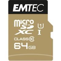 Emtec microSDXC Gold+ 64GB Class 10 + SD-Adapter