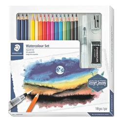 12er-Pack wasservermalbare Buntstifte Design Journey inkl. 3 wasservermalbarer B, Staedtler