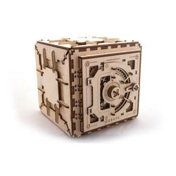 UGEARS 3D-Puzzle UGEARS Holz 3D-Puzzle Modellbausatz SAFE, 179 Puzzleteile