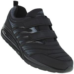 Bootsland Unisex Klett Sportschuhe Sneaker Turnschuhe Freizeitschuhe 001, Schuhgröße:49, Farbe:Schwarz
