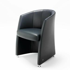 Sessel Rolf Benz ST SE 7300 Cocktailsessel Wohnzimmer Echt Leder schwarz