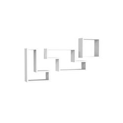 moebel17 Wandregal Wandregal Tetris Weiß, mit 8 Ablageflächen