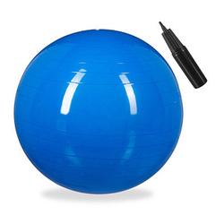 relaxdays   Gymnastikball blau 65,0 cm
