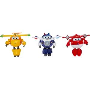 Packung mit 3 Transform-A-Bot, 12 cm groß, mit Namen Jett Supercharge / Paul Supercharge / Bucky der Saison 4