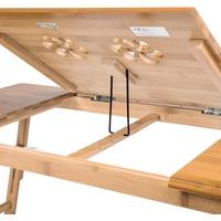 Tectake Laptoptisch aus Holz, höhenverstellbar, 72x35x26cm (1-St) braun