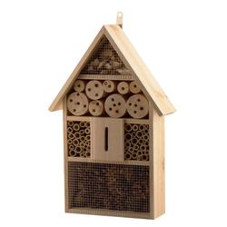 BigDean Nistkasten XXL 48 cm Insektenhaus Nistkasten Brutkasten Insekten Bienen Hotel Bienenhaus Schmetterlinge Marienkäfer Tanne Holz Natur Winterquartier
