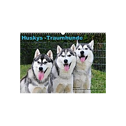 Huskys - Traumhunde (Wandkalender 2021 DIN A3 quer)
