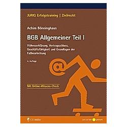 BGB Allgemeiner Teil I. Achim Bönninghaus  - Buch