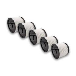 vhbw 5x Rund-Filter passend für Mehrzwecksauger Aldi Workzone Nass- und Trockensauger