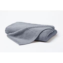 Decke STRICK grau (LB 170x130 cm)