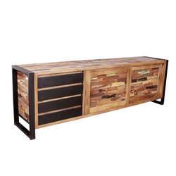 Design Sideboard in Bunt Altholz