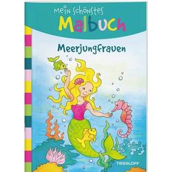 Mein schönstes Malbuch. Meerjungfrauen