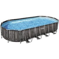 BESTWAY Power Steel Frame Pool Set 732 x 366 x 122 cm inkl. Filterpumpe oval