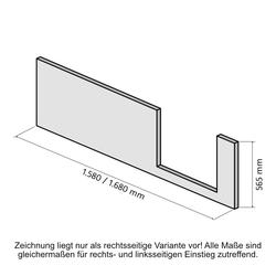 HSK Frontschürze für Dobla Bade- / Duschwanne 160 × 75 cm Einstieg links