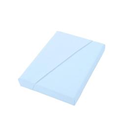 Dormisette Spannbettlaken blau 150 cm x 200 cm