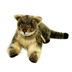 Kösen Kuscheltier Wildkatze Peppi 29 cm liegend Stofftiere Katzen