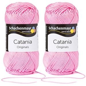 Schachenmayr Catania Wolle 2x50 Gramm aus 100% Baumwolle + 1 Anleitung Meerschwein (222 Orchidee)