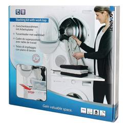 Scanpart Waschmaschinenumbauschrank Arbeitsplatte f. Waschmaschine/-Trockner