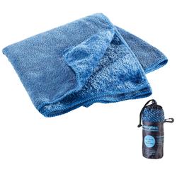 Mikrofaser-Handtuch, 2 versch. Oberflächen, 80 x 40 cm, blau