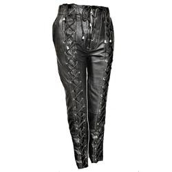 Lederhose Biker-Hose aus ECHT Leder mit Schnürung