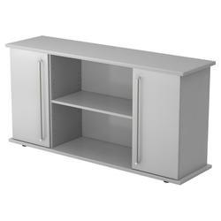 KAPA SB | Sideboard | mit Türen - Grau Sideboard Chromgriff Metall