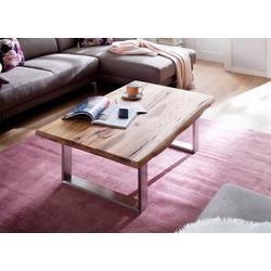 MCA furniture Couchtisch, Couchtisch Massivholz mit Baumkante