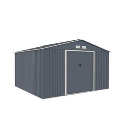 Metallgerätehaus 10,85 m2 Satteldach (340 x 319 cm) inkl. Verankerungsset