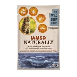 IAMS Naturally Adult Nassfutter PB 85g Wilder Thunfisch in Sauce