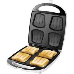 Unold Quadro Sandwich-Toaster klappbar Weiß, Schwarz