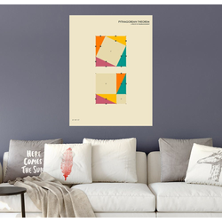 Posterlounge Wandbild, Pythagorean Theorem 70 cm x 90 cm