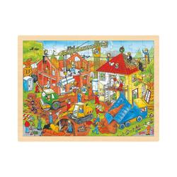 goki Puzzle Einlegepuzzle Baustelle, Puzzleteile