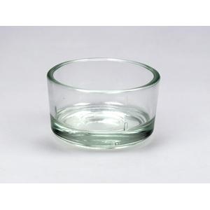 Teelichthalter Glas klar für Teelichter Deko Teelichtglas Kerzenhalter
