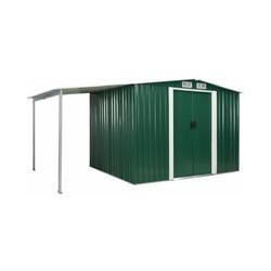 Gerätehaus mit Schiebetüren Grün 386×205×178 cm Stahl - Youthup