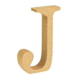 """VBS Buchstaben """"MDF"""" 8 cm x 1,5 cm bunt Buchstabe """"J"""""""