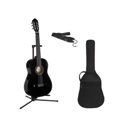 Konzertgitarre Konzertgitarren-Set 7/8 schwarz