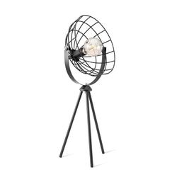 Tischlampe Fabio Retro-Design Schwarz
