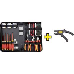 TOOLCRAFT 1177223 Elektriker Werkzeugset in Tasche