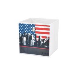 dynamic24 Aufbewahrungsbox, Motiv Textil Faltbox New York 31cm Aufbewahrung Box Faltkiste Textil-Box