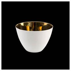 Goebel Windlicht Kaiser Porzellan Gold Weiß