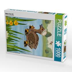 Meine Ente Elli Lege-Größe 48 x 64 cm Foto-Puzzle Bild von Marion Krätschmer Puzzle