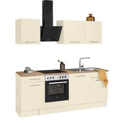 wiho Küchen Küchenzeile Ela, ohne E-Geräte, Breite 220 cm gelb