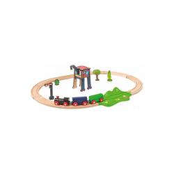 Eichhorn Spielzeug-Eisenbahn Eisenbahn - Set, Oval mit Zubehör, 18 tlg.